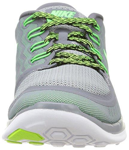 Nike Free 5.0, Herren Laufschuhe Grau (Mehrfarbig (Cool Grey/Grn Strike-Vltg Grn)