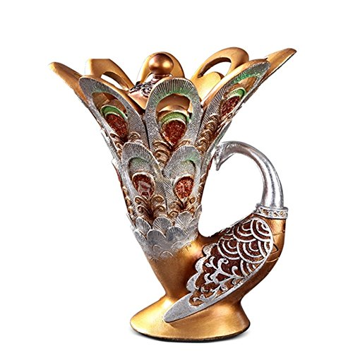 Arti e mestieri ornamenti di stile europeo/decorazioni per la casa/casella di gioielli creativi/Peacock soprammobili/Decorazioni degli (Vetro Peacock)
