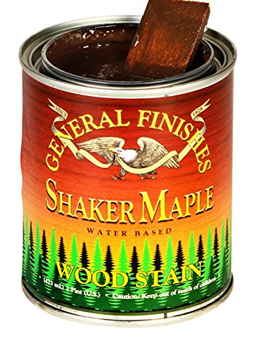 Maple Shaker (General Finishes WMPT Water Base Wood Stain, 1 pint, Shaker Maple by General Finishes)