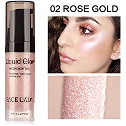 Face Flüssig Highlighter Glow Makeup Shimmer Liquid Highlighter Augen Gesicht Glitzer Brighten Wasserdichtes erhellen das Konturen-Makeup