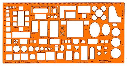 Standardgraph - Sagoma per disegno mobili da architetto