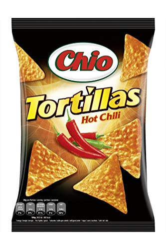 Chio Tortilla Chips Hot Chili, 10er Pack (10 x 125 g)