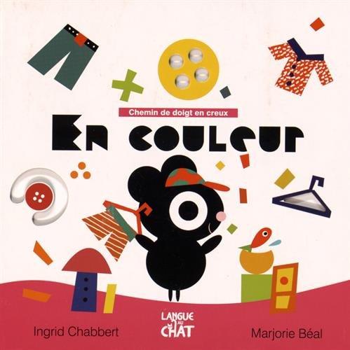 Chemin de doigt en creux en couleur par Ingrid Chabbert