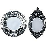 MADHUSUDAN GLASS WORKS Mirror & Plywood Wall Mirror (Pack Of 2, Silver) - B07BJ4PLVX