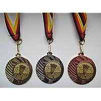 Medaillen Badminton Pokal Kinder Medaillen 3er Set mit Band&Emblem Pokale Turnier e277