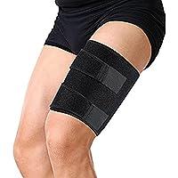Oberschenkelbandage, mit Silikon-Anti-Rutsch-Streifen Einstellbare Kniesehne Kompressions-Wrap für Pulled Injury... preisvergleich bei billige-tabletten.eu
