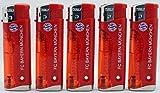5er Set Feuerzeug mit LED FC Bayern München FCB