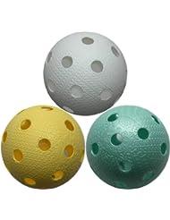 Realstick floorball/unihockey ball color mix lot de 6