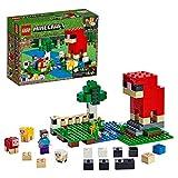LEGO Minecraft - La Granja de Lana, Juguete de constucción inspirado en el videojuego, Incluye el bebe oveja, Novedad 2019 (21153)