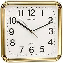 Rhythm , Orologio da parete quadrato a movimento silenzioso con numeri in  3D, colore