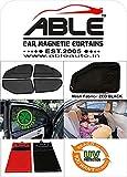 #8: Able Zed Black Half Car Magnetic Sun Shade Curtains for Isuzu MU-X Set of 6