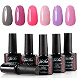 Y&S Soak Off Gel Nail Polish 6PCS/Lot UV LED Lacquer Shiny Varnish Nail Starter Kits 10ML #04