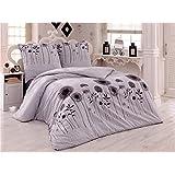 Bettwäsche 200x220 Baumwolle Bettgarnitur mit Reißverschluss 3 teilig L-7944