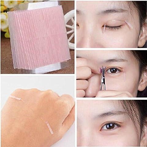 Tefamore 5 feuilles en fibre invisible double face Adhésif aux paupières autocollants Rubans techniques pour les yeux