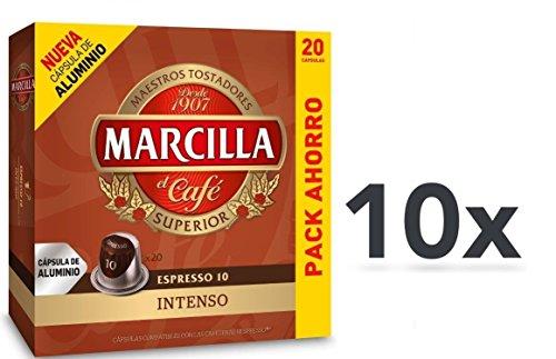 Capsulas Compatibles Nespresso®* Marcilla Intenso 200 Unidades