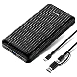 45W Power Delivery Portable Charger - Zendure A6PD 20100mAh Ultra-Durable PD Power Bank with USB-C Input/Output Compatible with MacBook Pro, Phone X/XS/XS Max/8, Nintendo Switch and Laptops - Black