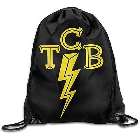 Canace TCB Elvis Logo deportes al aire libre cordón bolsas mochila, Blanco, talla única