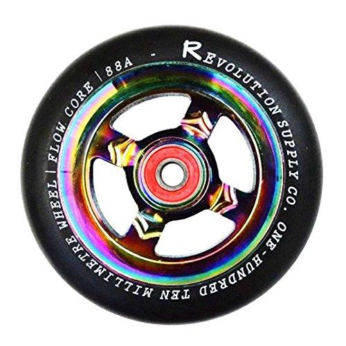 Preisvergleich Produktbild Revolution flow Stunt-Scooter Rolle Oilslick Rainbow 110mm Wheel + Kugellager neochrome