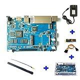 Banana Pi BPI-R2, 2GB LPDDR3+ 8 GB eMMC, Open-Source-Entwicklerboard, kompatibel mit Raspberry Pi, mit leistungsstarkem Zubehör