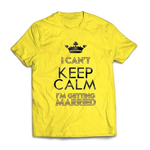 hirt Ich Heirate - Party Geschenkideen - Hochzeitsthemen (Small Gelb Mehrfarben) (Damen Halloween T-shirts-ziel)
