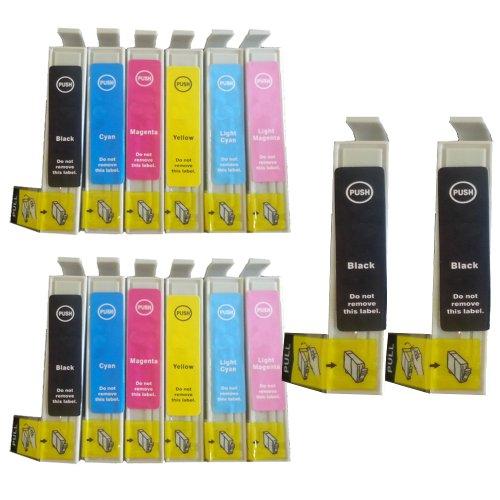 Preisvergleich Produktbild 14 Colour Direct Kompatibel Druckerpatronen Ersatz für Epson Stylus Photo R200 R220 R300 R300M R320 R330 R340 RX300 RX320 R350 RX500 RX600 RX620 RX640 Drucker