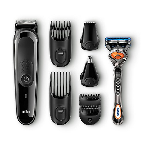 Braun MGK3060 8 in One Multi Grooming and Trimmer Kit  Black  Men's Grooming Sets   Kits