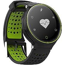 IP68impermeabile Smart Watch con cardiofrequenzimetro, contapassi attività fitness tracker (verde)