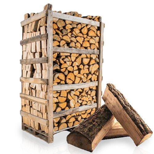 PALIGO Brennholz Kaminholz Feuerholz Grillholz Ofenholz Smokerholz Scheitholz Eichen Holz Trocken Ofenfertig Eiche 33cm 1,8RM = 2,5SRM / 1 Palette HEIZFUXX®