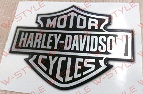 harley-davidson-stemma-logo-serbatoio-3d-argento-nero-sticker-adesivo-resinato-per-serbatoio-e-casco