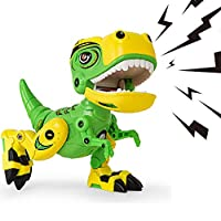 AOFUN Dinosaur Toys for Kids, Alloy Metal Dinosaurs Toy Roaring Sound Mechanical Sark for Toddlers Boys Baby Gifts