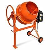 Festnight- Hormigonera Versátil y Portátil Acero Color Naranja 140 L 650 W