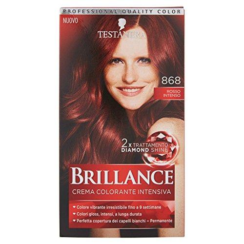 Schwarzkopf, Brillance, Crema Colorante Intensiva Permanente, 868 Rosso Intenso