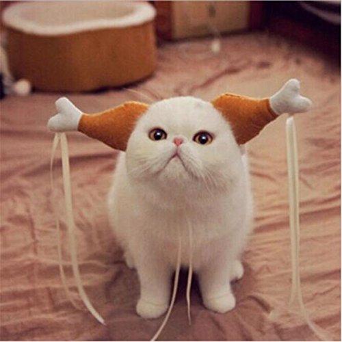 osplay de Chien D'Halloween,Costume de Noël Pour Chiot, Festival Cats - Chapeau de Jambe de Poulet Drôle et Mignon,Chapeau de Chat Pour la Fête (S) (Fotos Costume D'halloween)