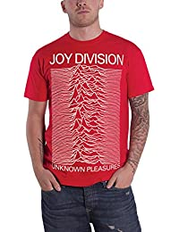 Joy Division T Shirt Unknown Pleasures Band Logo Official Mens Red