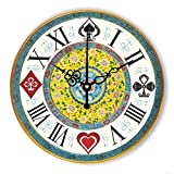Gwgdjk Brand Absolutely Silent Vintage Large Decorative Wall Clock With Waterproof Clock Face And Roman Number Retro Wall Decor Watch Wooden 12inch