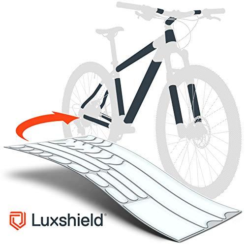 Luxshield Fahrrad Lackschutzfolie für Mountainbike, BMX, Rennrad, Trekkingrad etc. - 21-teiliges Rahmen-Set gegen Steinschlag - transparente & selbstklebende Qualitätsware aus Deutschland