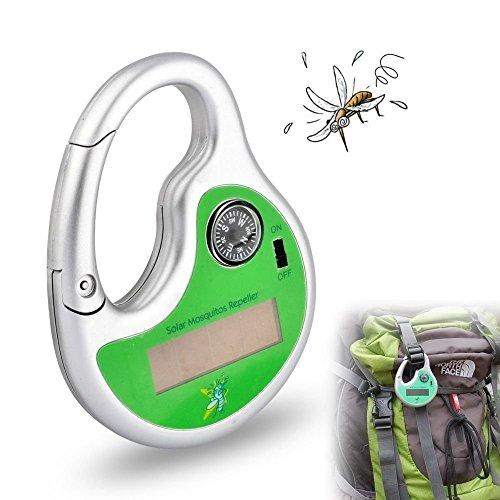 Kingnew Solar Powerd Sonic antimosquitos de–Aniquilador de controladores al aire libre portátil de insectos eléctrico antimosquitos por ultrasonidos con brújula
