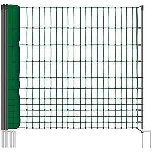25 m Hühnerzaun Geflügelzaun Geflügelnetz ohne Strom 112 cm 9 Pfähle 2 Spitzen grün von VOSS.farming farmNET