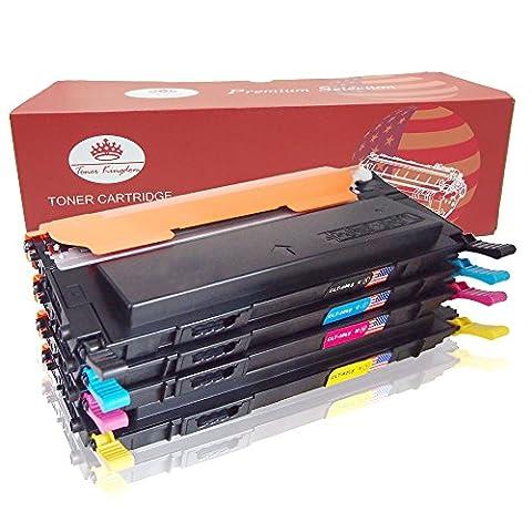 Toner Kingdom 4 Paquet Compatible Cartouche d'encre Pour Samsung CLT-406S CLP-360 CLP-365 CLP-365W CLP-360N CLP-365W CLX-3300 CLX-3305 CLX-3305FN CLX-3305FW CLX-3305N CLX-3305W Xpress C410W SL-C460FW Imprimante (1 Noir,1 Cyan,1 Magenta,1 Jaune)
