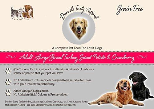 Welpenfutter Hundefutter–Große Rassen Türkei, Sweet Potato & Cranberry