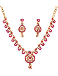 Touchstone Antique Gold Plated Classy Necklace Set For Women