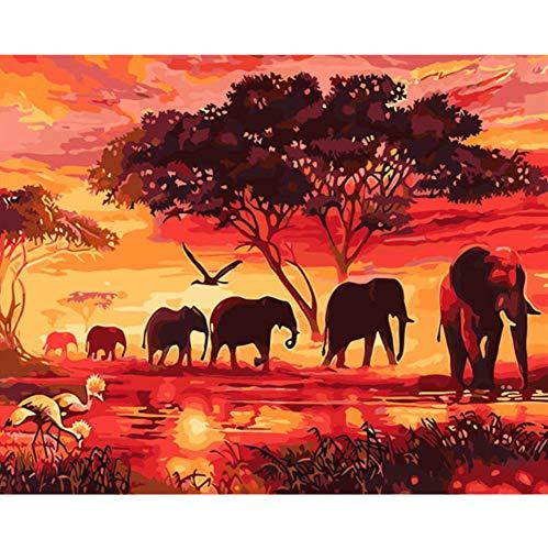 WACYDSD Puzzle 1000 Piezas Puzzle 3D Elefantes Bricolaje Y Caligrafía Decoración para...