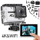 BFULL Action Cam 4K Ultra Full HD Unterwasserkamera 20MP Wifi