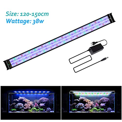 JOYHILL Eclairage Aquarium LED, Rampe LED pour Aquarium d'eau Douce, Lumiere Aquarium Plantes, 2 Mode Lampe LED pour Aquarium 120cm-140cm