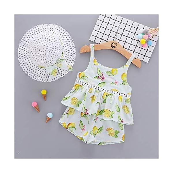 Trisee Ropa de bebé Trajes de Verano para niñas 2PC / Set Tops sin Mangas y Pantalones Cortos Ropa Casual para niñas… 2