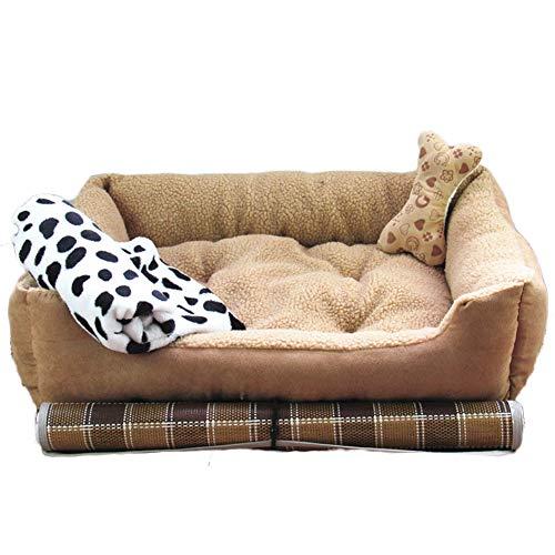GielCof Pet Bett,Ultra weiche & gemütliche waschbar Katze Hund mat - warm Haustier Arthritis lindert & hüftdysplasie Schmerzen welpe kätzchen Kennel Kissen-Leicht tan L -