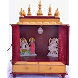 Wooden Temple/Wooden Home Mandir/Wooden Pooja Temple/Pooja Temple with Bulb