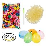 Lictin 800 Wasserballons Wasserbomben mit 800 Gummibänder und 3 Füllen