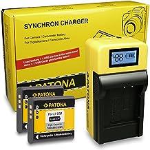 LCD Cargador de Batería + 2x Batería Li-50b para Olympus D-750 | D-780 | DZ-105 | Olympus mju 1030 SW | mju 5010 | mju Tough 8000 | mju Tough 8010 | mju 9000 | mju 9010 | Olympus Traveller SH-21