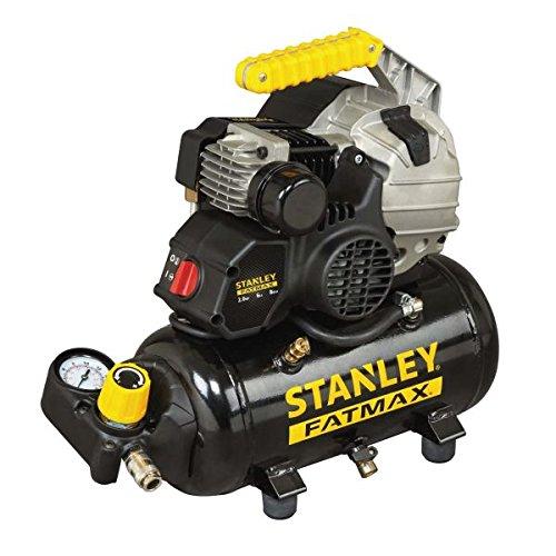 Compressore aria portatile lubrificato stanley hy 227/8/6e 6 litri 2 hp 8 bar